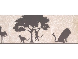 Prepasted Wallpaper Borders - Animals Wall Paper Border 9269 YS