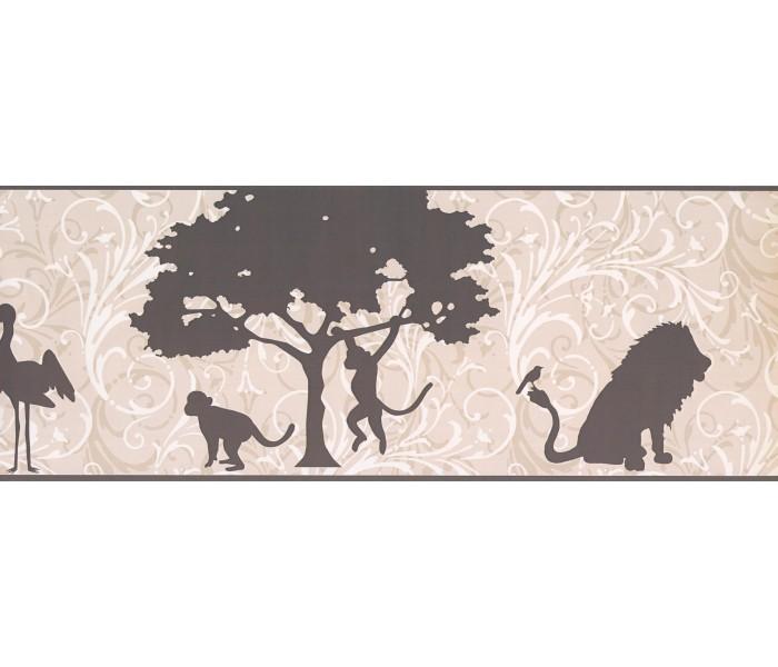 Jungle Wallpaper Borders: Animals Wallpaper Border 9269 YS