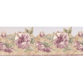 Prepasted Wallpaper Borders - Roses Wall Paper Border 9322 JCP