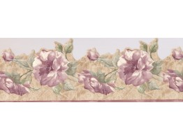 7 in x 15 ft Prepasted Wallpaper Borders - Roses Wall Paper Border 9322 JCP