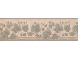 7 in x 15 ft Prepasted Wallpaper Borders - Floral Wall Paper Border 93384