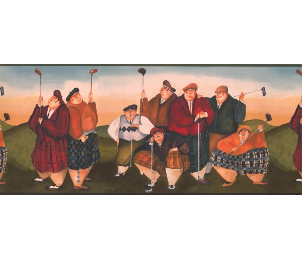 Clearance Golf Wallpaper Border 9405 NV York Wallcoverings