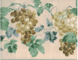 10 1/4 in x 15 ft Prepasted Wallpaper Borders - Grapes Wall Paper Border 948B75723