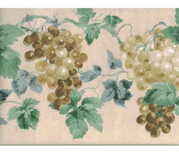 New Arrivals Grapes Wallpaper Border 948B75723