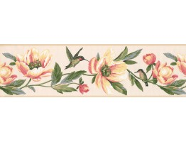 Prepasted Wallpaper Borders - Floral Wall Paper Border 9557 LT