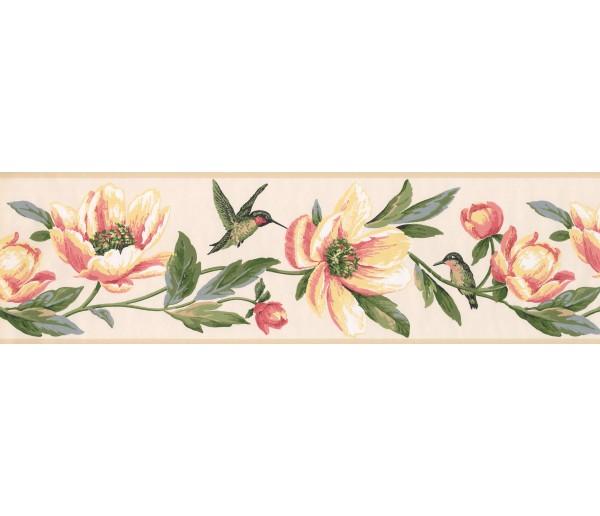 Garden Borders Floral Wallpaper Border 9557 LT York Wallcoverings