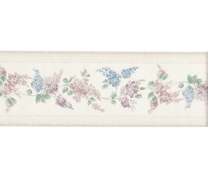 Floral Wallpaper Borders: Flower Wallpaper Border 965B80713