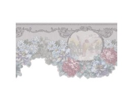 Prepasted Wallpaper Borders - Floral Wall Paper Border 974B61784