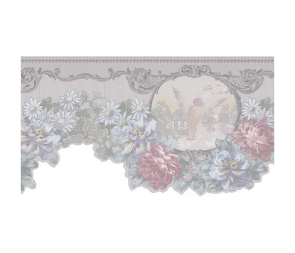 Garden Wallpaper Borders: Floral Wallpaper Border 974B61784