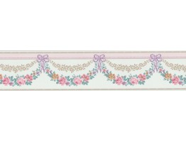 Prepasted Wallpaper Borders - Floral Wall Paper Border B69576