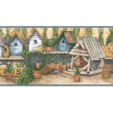Bird Houses Wallpaper Borders: Birds House Wallpaper Border ACS59036