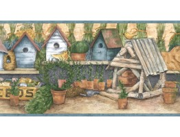 Prepasted Wallpaper Borders - Birds House Wall Paper Border ACS59036