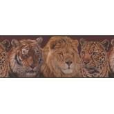 Jungle Animals Wallpaper Border 2043 ADV York Wallcoverings