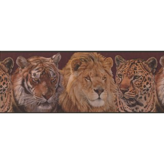 10 in x 15 ft Prepasted Wallpaper Borders - Animals Wall Paper Border 2043 ADV
