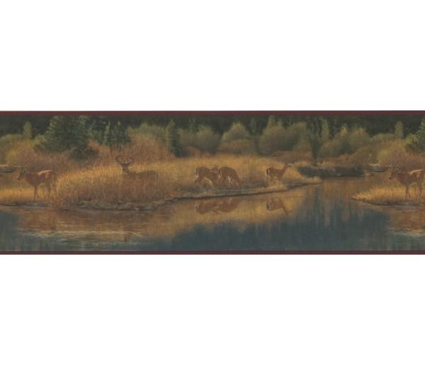 Deer Moose Wallpaper Borders: Deer Moose Wallpaper Border 2083 ADV
