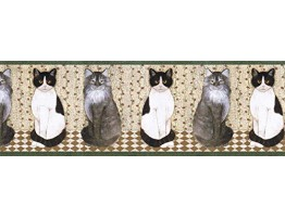 9 in x 15 ft Cats Wallpape Border AFR7104