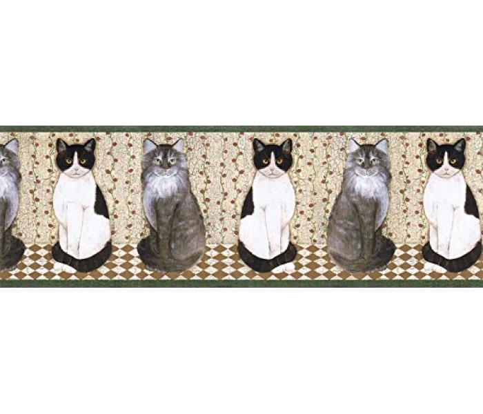 Cats Wallpaper Borders: Cats Wallpape Border AFR7104