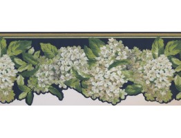 9 3/4 in x 15 ft Prepasted Wallpaper Borders - Floral Wall Paper Border 7439 AK