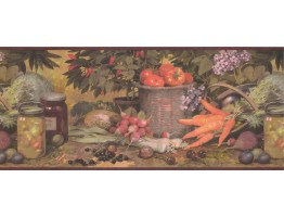 Prepasted Wallpaper Borders - Kitchen Wall Paper Border 25009 AQ