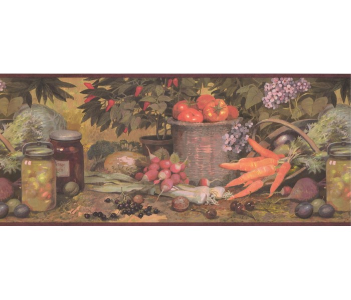 Kitchen Wallpaper Borders: Kitchen Wallpaper Border 25009 AQ