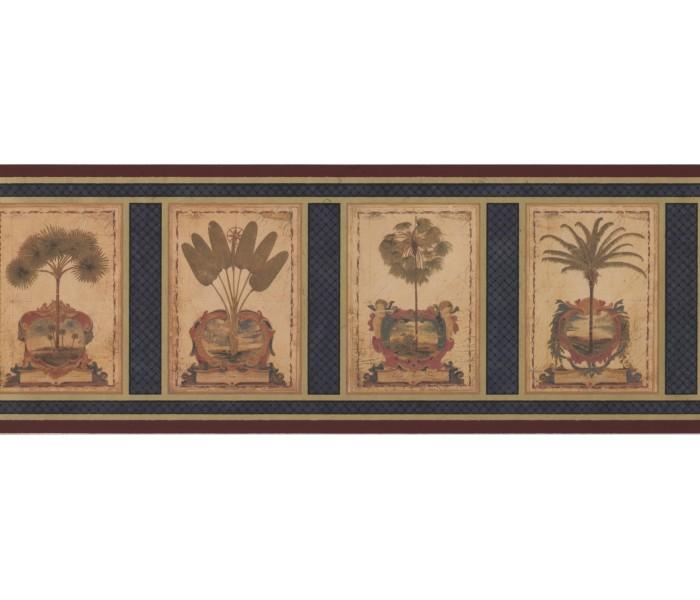 Landscape Wallpaper Borders: Palm Tree Wallpaper Border 5083 AU