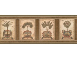 Prepasted Wallpaper Borders - Palm Tree Wall Paper Border 5084 AU
