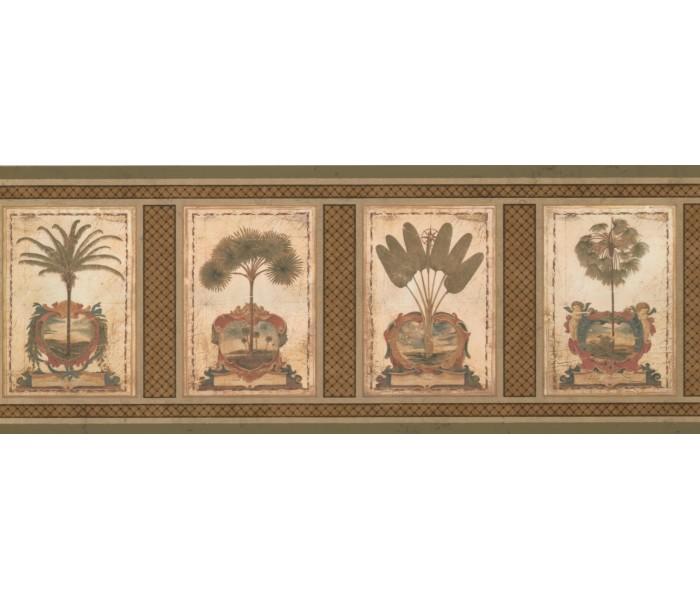 Landscape Wallpaper Borders: Palm Tree Wallpaper Border 5084 AU