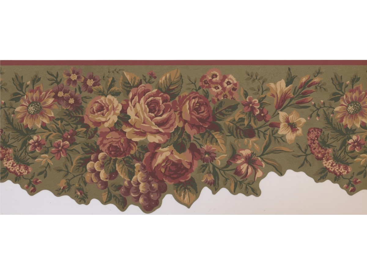 Floral Wallpaper Borders : Floral Wallpaper Border 5112 AU