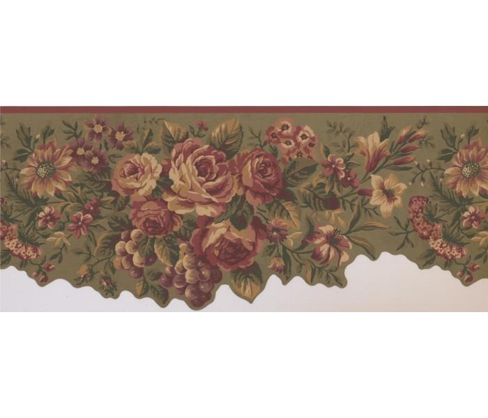 Floral Wallpaper Borders: Floral Wallpaper Border 5112 AU
