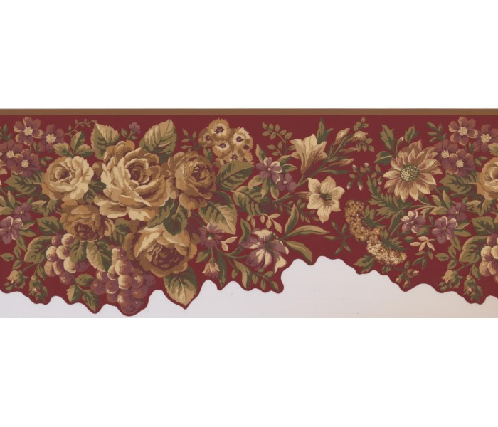 Floral Wallpaper Borders: Floral Wallpaper Border 5113 AU