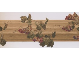 Prepasted Wallpaper Borders - Grapes Wall Paper Border 5162 AU
