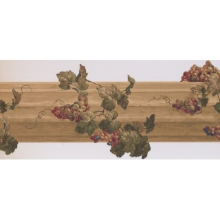10 in x 15 ft Prepasted Wallpaper Borders - Grapes Wall Paper Border 5162 AU