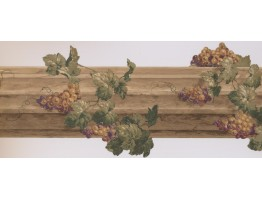 Prepasted Wallpaper Borders - Grapes Wall Paper Border 5163 AU