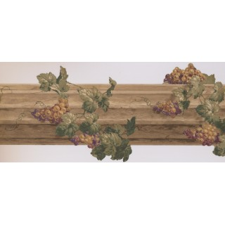 10 in x 15 ft Prepasted Wallpaper Borders - Grapes Wall Paper Border 5163 AU