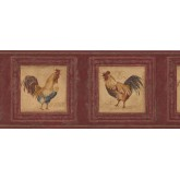 Roosters Rooster Wallpaper Border 5261 AU York Wallcoverings