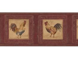 Rooster Wallpaper Border 5261 AU