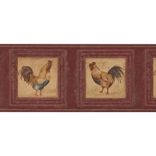 10 in x 15 ft Prepasted Wallpaper Borders - Rooster Wall Paper Border 5261 AU