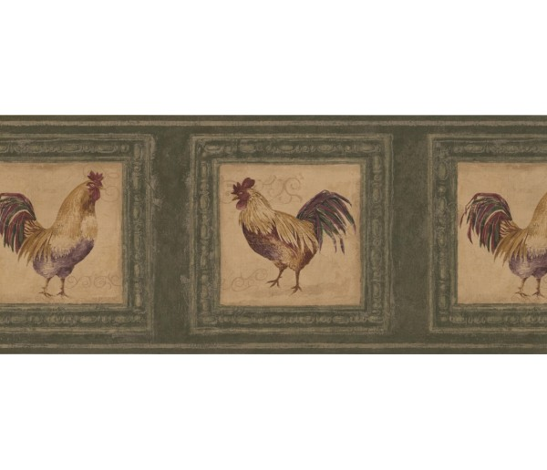 Roosters Rooster Wallpaper Border 5263 AU York Wallcoverings