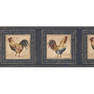 10 in x 15 ft Prepasted Wallpaper Borders - Rooster Wall Paper Border 5264 AU