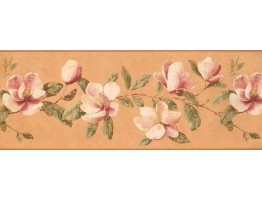 Prepasted Wallpaper Borders - Floral Wall Paper Border 5224 AZ