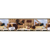 Roosters Wallpaper Borders: Roosters Wallpaper Border LBO223B