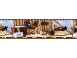 Prepasted Wallpaper Borders - Roosters Wall Paper Border LBO223B