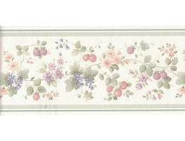 Flower and Fruits Wallpaper Border B0538