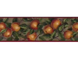 Prepasted Wallpaper Borders - Apple Wall Paper Border B10035104