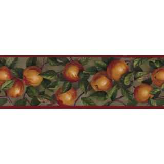 7 in x 15 ft Prepasted Wallpaper Borders - Apple Wall Paper Border B10035104