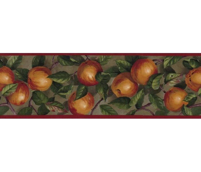 Clearance: Apple Wallpaper Border B10035104
