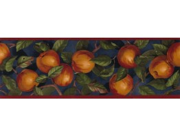 Prepasted Wallpaper Borders - Apple Wall Paper Border B10035105