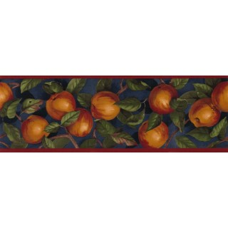 7 in x 15 ft Prepasted Wallpaper Borders - Apple Wall Paper Border B10035105