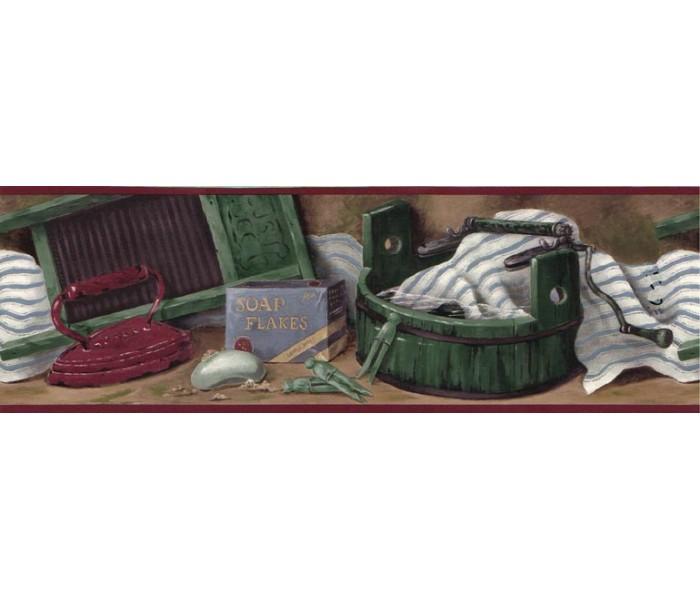 Laundry Wallpaper Borders: Laundry Wallpaper Border B10035203