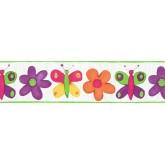 Floral Wallpaper Borders: Butterfly Wallpaper Border CK11025B